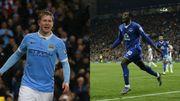 Doublé pour De Bruyne, but pour Lukaku, City et Everton en 1/2