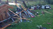 Une tornade a frappé Hotton en fin d'après-midi