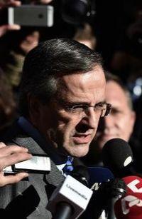 Le Premier ministre grec Antonis Samaras le 23 décembre 2014 à Athènes