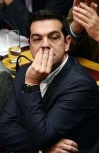 Alexis Tsipras, chef du parti anti-austérité Syriza, le 17 décembre 2014 au Parlement à Athènes