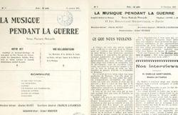 Premier n° de la revue «La musique pendant la guerre» parue le 10 octobre 1915 - Gallica ©