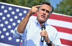 Le candidat républicain Mitt Romney lors d'un meeting de campagne à Fairfax, en Virginie, le 13 septembre 2012
