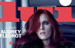 Lui a dévoilé sa nouvelle couverture avec la sublime Audrey Fleurot