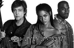 Un titre folk (!) de Rihanna, Kanye West et Paul McCartney a affolé le Net ce week-end