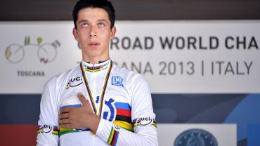 Décès du Belge Igor Decraene, 18 ans, champion du monde CLM juniors