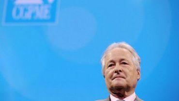 Jean-François Roubaud, président de la Confédération générale des petites et moyennes entreprises (CGPME) le 15 juin 2010 à Paris
