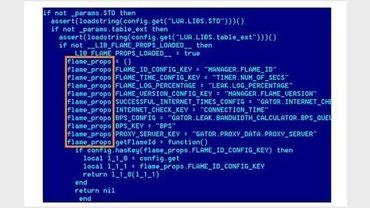 Capture d'écran, non datée, réalisée par la société russe Kaspersky Lab montrant l'attaque du virus informatique Flame
