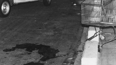 Une photto prise après le hold up sanglant dans une grande surface de Braine-l'Alleud, le 27 aout 1985.
