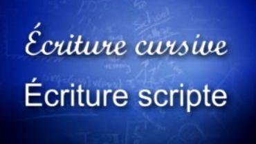 Deux types d'écritures manuscrites.