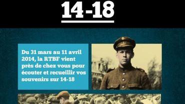 La RTBF recueille les souvenirs des Belges sur 14-18