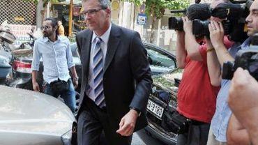 Klaus Masuch, l'un des membres de la troïka, à Athènes dans le cadre de sa mission