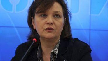 Elena Panfilova, la directrice de l'ONG Transparency International Russia, à Moscou, le 2 mai 2012