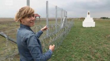 Lauwke Vandendriessche a trouvé la faille: c'est le bout du mur, côté Roumanie