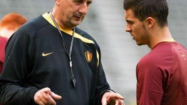 Georges Leekens et Eden Hazard