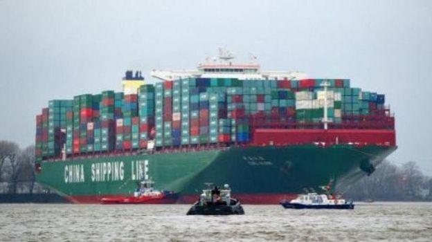 Arriv e zeebrugge du plus gros porte conteneurs du monde - Le plus gros porte conteneur du monde ...