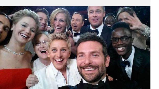 Selfie des Oscars pris par Ellen de Generes en mars 2014