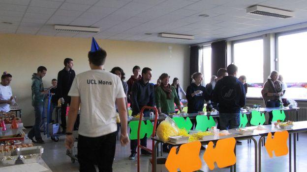 Un atelier de production du Rhétos Challenge de l'UCL Mons