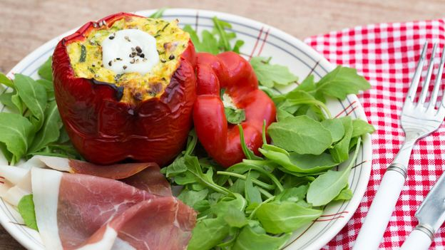 Recette poivrons farcis l 39 italienne rtbf cuisine for Cuisine a l italienne