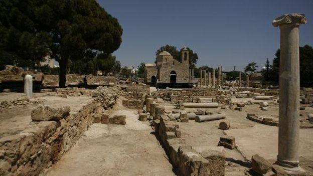 Ruines du Pilier de Saint Paul - site archéologique de Paphos