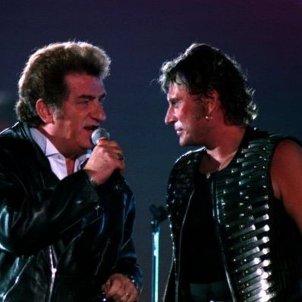 johnny hallyday eddy mitchell  - Photo : Philippe Wojazer / Reuters ©