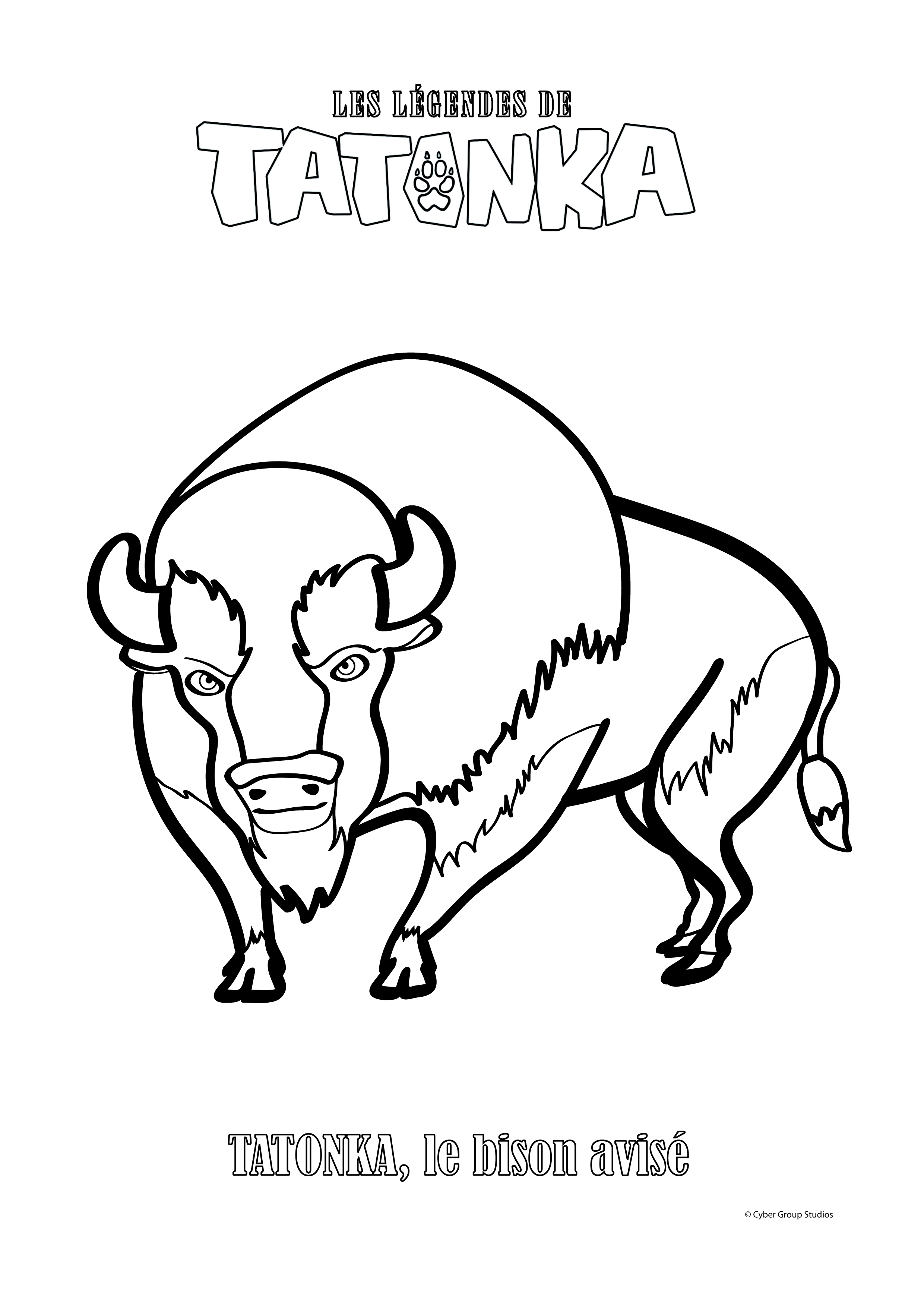 Les l gendes de tatonka ouftivi - Bison coloriage ...