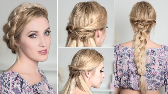 hairstyles for New Years eve 2016 with braids for medium/long hair ...